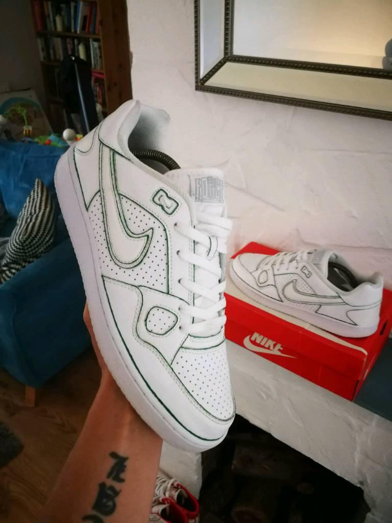 various colors e92a1 ffc5a Nike Son Of Force (like air force 1) uk9 triple white custom