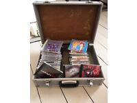 Aluminium DJ CD Carry Case + CD's