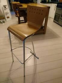 Three Designer Italian high bar top stools