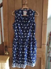 Mantaray Navy Sailboat Summer Dress New without tags Size 14