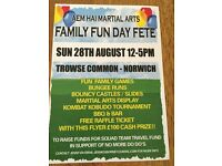 FAMILY FUN DAY ON TROWSE COMMON 28/8/16