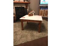 shabby chic pine coffee table £25.00