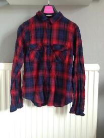 Top shop lumbar jack shirt size 8
