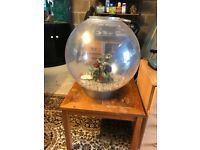 60l large bi orb fish tank very nice with heater pump gravel nice ornament look pic no lid with ligh