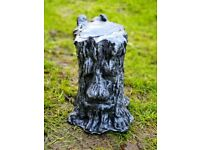 Large Tree Face Stump Silver