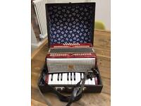 Vintage child's Russian accordion
