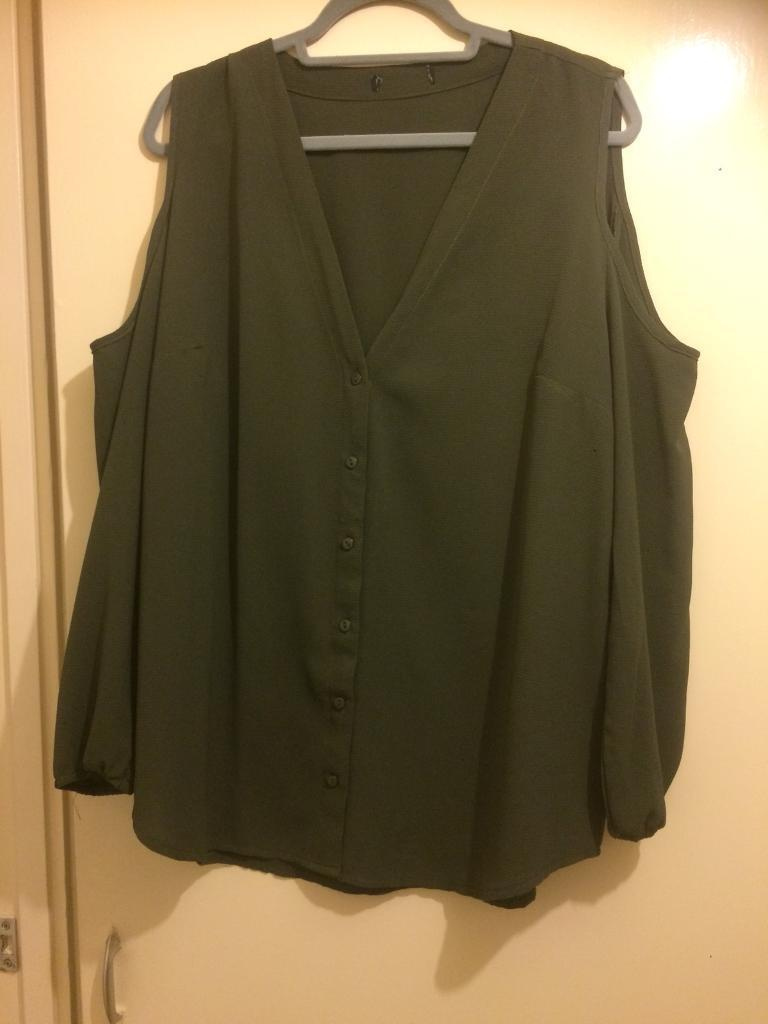 Newlook size 20 cold shoulder top