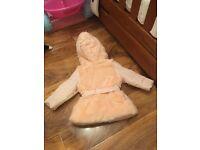 Mini v by very peach jacket baby girls