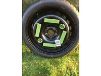 Audi A5. Space saver wheel