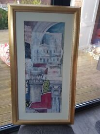 Lovely gold effect framed abstract print