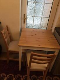 Kitchen dining table with two chairs