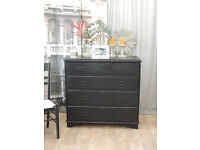 Shabby chic Victorian chest of four drawers by Eclectivo