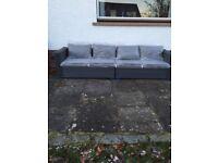 Rattan 4 seater sofa