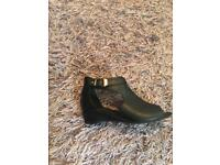 2x Black zipped shoes very good condition size 12 (kids ) & size 7 (adults)