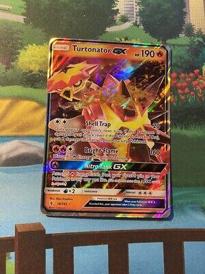 Pokemon Card - Turtonator GX 18/145 - Guardians Rising - Half Art, NM!