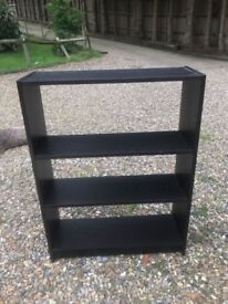 Two IKEA Billy Bookcases - Black/brown color