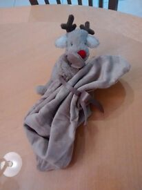 NEW soft reindeer baby soother John lewis