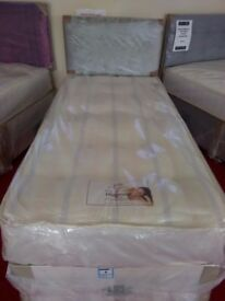 NEW Myer Adams Highlander Single Bed with 2 Drawers and Mattress.