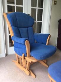 Dutailier Gliding Nursing Rocking Chair & Footstool