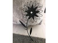 Metal wall art flower decoration
