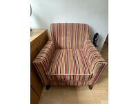 Multicoloured Striped Armchair