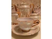 tea and coffee set - pearl effect