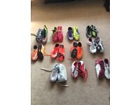 Variety of football and Astro shoes.
