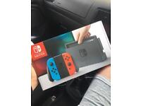 Nintendo Switch Console, Neon Red/Blue Joy-Con + Screen Protector and Case