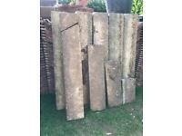 Concrete garden / path edging / kerb stones - contact free collection