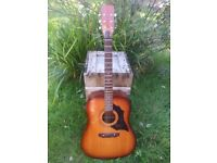EKO 1970's MADE IN ITALY VINTAGE ACOUSTIC..SUNBURST NEW TUNERS USA STRING SUPERB COUNTRY/FOLK GUITAR