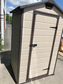 Arrow Apex Metal Garden Shed Dark Grey - 8 x 6ft | in