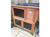 Rabbit / Guinea Pig Hutch with protective covering