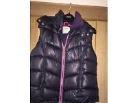 Girls Next Padded Body Warmer Age 14 Navy with Pink Zip and inside neck