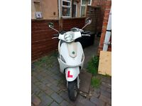 Motorini XP 125, 2016, 13 months warranty, two years mot, service history, slight damage (pictured)