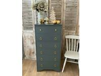 Shabby chic chest of drawers/ tallboy- local delivery