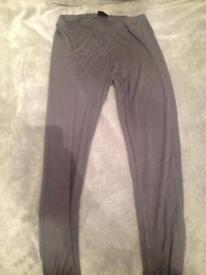 Grey leggings size 8
