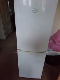 Swan Fridge Freezer - Small size to fit tight spaces, 50cm Width, 145cm Height