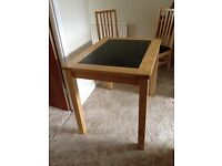 Table with twoChairs,granite insert