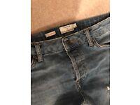 Men's Asylum Skinny Jeans & Light Wash Blue Ripped Skinny Jeans