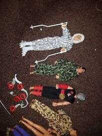 Early 90's action man & action figures