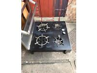 4 ring commercial cooker