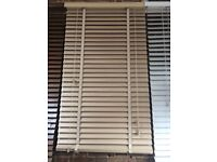 Brand new 50mm wooden blinds with matching 25mm Tape