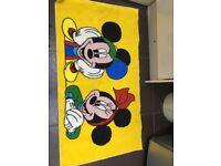 Mickey and mini bedroom mat