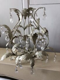 Crystal antique look chandelier