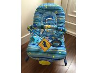 Baby Bouncer Blue Dolphin