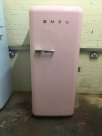 Smeg fridge freezer with ice box FAB28 pink 3 months warranty free local delivery!!!!!