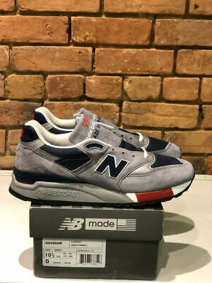NEW BALANCE SHOES M998GNR GREY/NAVY/RED MADE IN THE USA WIDTH D