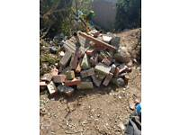 Rubble and wood