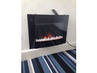 Wall mountable electric fire