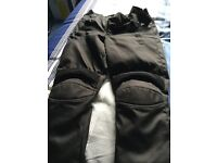 Ladies armoured textile motorbike trousers